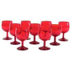 Mid-Century Modern Scandinavian Wine  Glasses by Kosta Boda