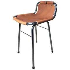 20th Century Leather Charlotte Perriand Stool for Les Arcs, 1960