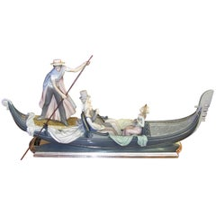 Lladro in the Gondola Signed by Catala and Ruiz