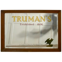 A TRUMAN's Beer Advertising Mirror, Pub Mirror for Truman's