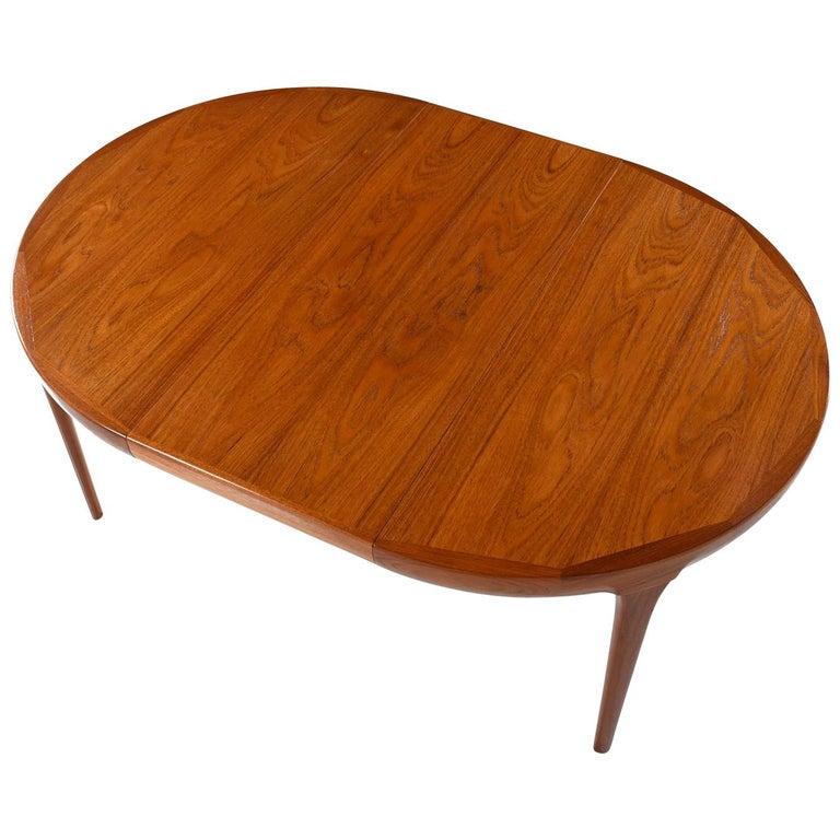 Ib Kofod Larsen Danish Teak Oval Dining Table For Sale