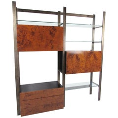 John Stuart Burlwood and Glass Wall Unit