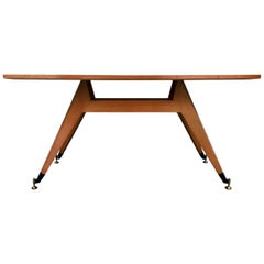 Italian Mid-Century Geometric Dining Table, 1950s