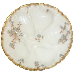 Antique French C.F.H. Haviland Limoges Porcelain Oyster Plate, circa 1880-1890