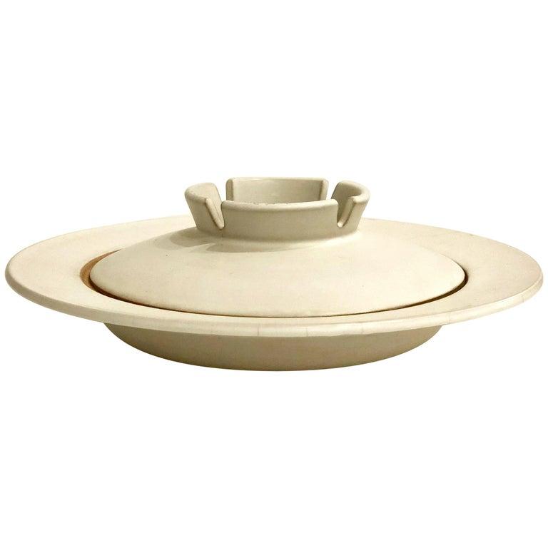 Midcentury Nelson Stoneware Large Ceramic Ashtray For Sale