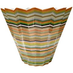 21st Century French Faience Missoni Style Chevron Bowl by, Fabienne Jouvin-Paris
