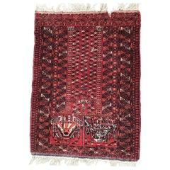 Antique Turkmen Afghan Prayer Rug