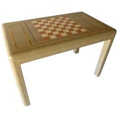Karl Springer Lizard Skin Chess Table