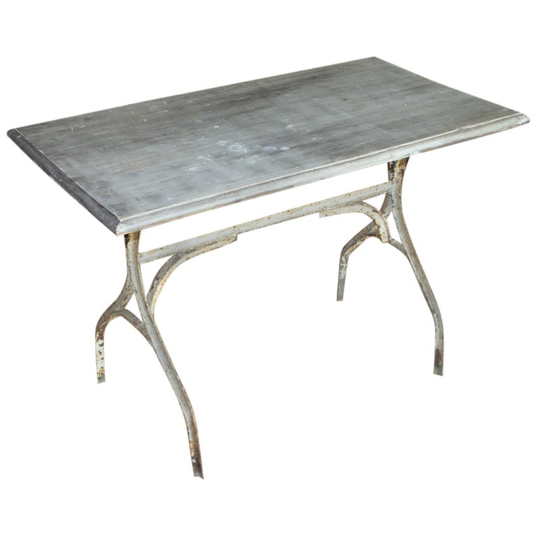 Vintage French Bistro Table For Sale