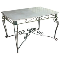 Antique English Art Nouveau Garden Table