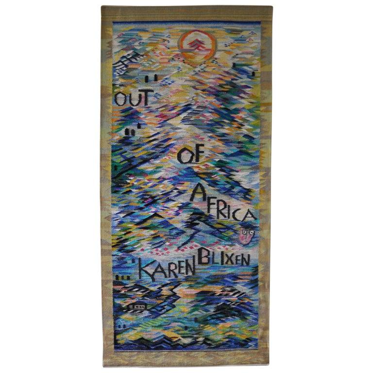 """Karen Blixen - Out of Africa"" Tapestry by the Danish Artist Mette Birckner"