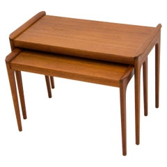 Pair of Teak Danish Nesting Tables