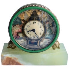 Swiss Hand-Painted Desk Clock