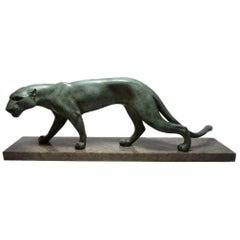 Art Deco Panther On Marble base