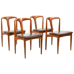 Set of Four Dinning Chairs, Model Juliane, by Johannes Andersen