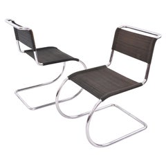 Ludwig Mies van der Rohe Weißenhof MR 10 / MR 533 Chairs Manufactured by Thonet