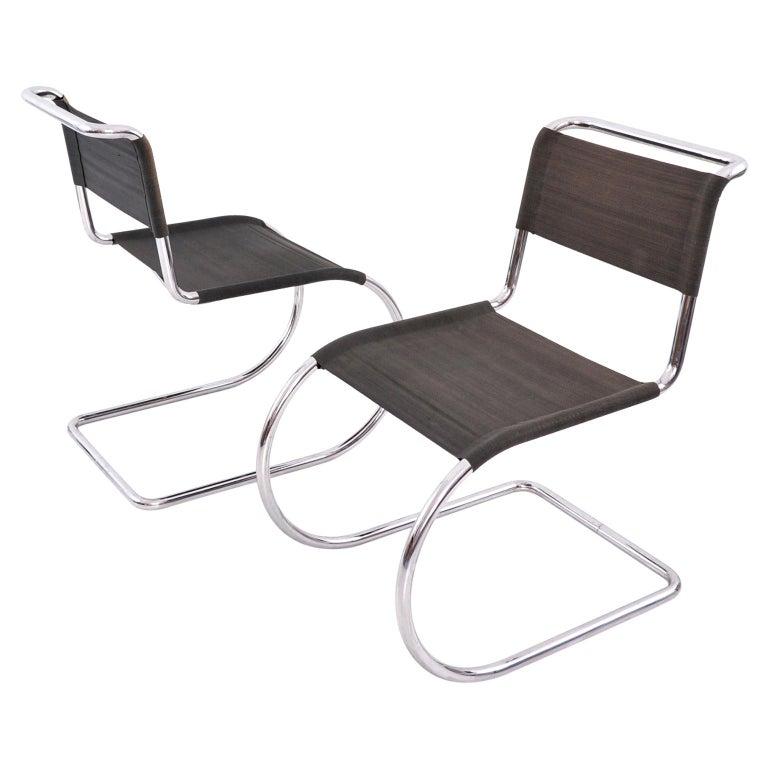 Ludwig Mies van der Rohe Weißenhof MR 10 / MR 533 Chairs Manufactured by Thonet