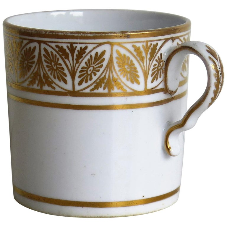 Early 19th Century Spode Porcelain Coffee Can All Hand Gilt Pattern, circa 1810