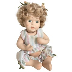 Midcentury Antique Bisque Porcelain Doll