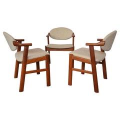 Danish Chairs by Kai Kristiansen for Schou Andersen, 1960s, Set of Three