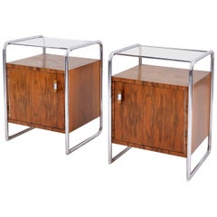 Bauhaus Bedside Cabinets by Arch. J. Fenyves for Thonet Mundus, Vienna