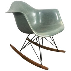 Rare Eames Zenith Rope Edge RAR Rocker in Seafoam Green