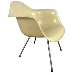 Early 2nd Generation X Base Translucent Arm Shell Lounge Chair by Charles Eames
