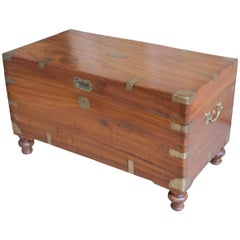 Late 19th Century British Campaign Camphor Sea Chest