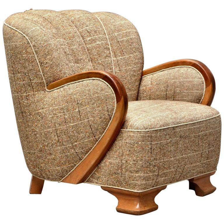 1940s Danish Art Deco Lounge Chair