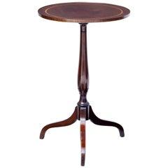 19th Century Inlaid Mahogany Tripod Table