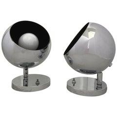 Atomic Mid-Century Modern Articulating Eyeball Spot Lamps by OMI Koch & Lowy