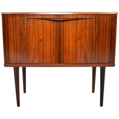 Danish Modern Lyby Rosewood Drop Down Chest