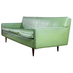 Mid-Century Modern Vinyl Sofa by Milo Baughman for Thayer Coggin