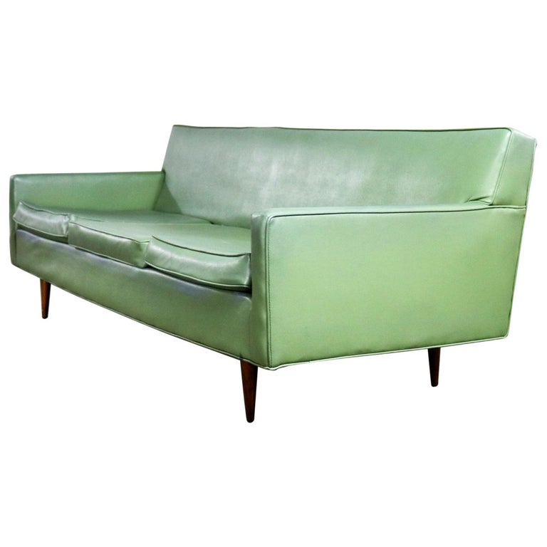 Mid-Century Modern Vinyl Sofa by Milo Baughman for Thayer Coggin