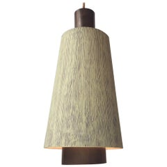 Danish Midcentury Brass Pendant Light from Lyfa, 1950s
