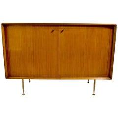Elegant Mid Century Two-Door Chifforobe Dresser after Ponti