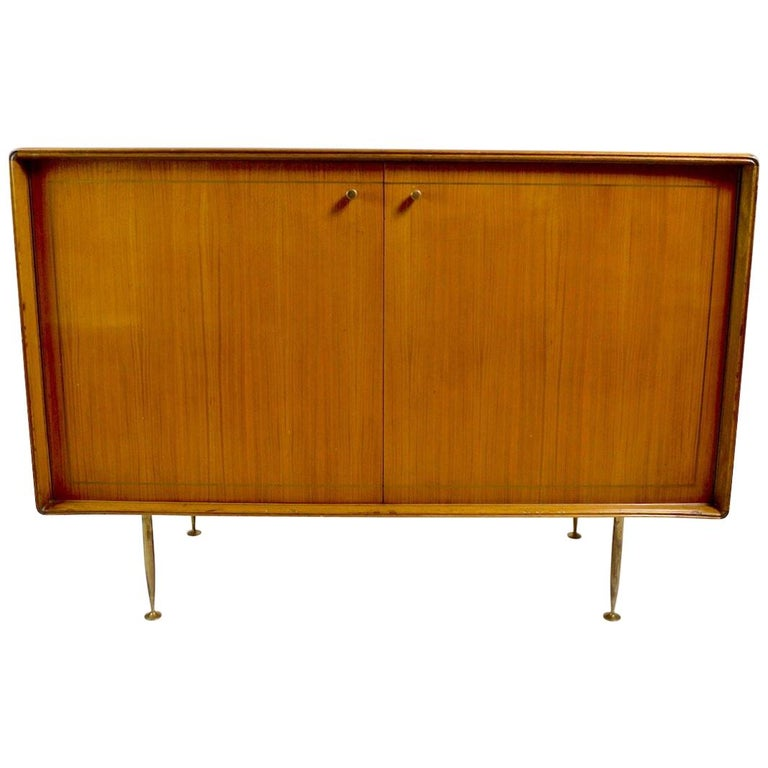 Elegant Mid Century Two-Door Chifforobe Dresser after Ponti For Sale