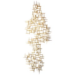 Contemporary Gilded Wall Sculpture by American Artist Del Williams