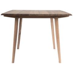 Table, Card Table, Breakfast Table, Walnut, Modern, Hardwood, Semigood Design