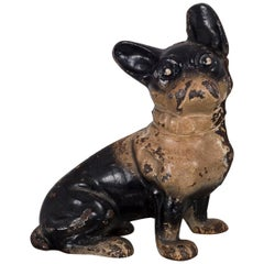 Early 20th Century Cast Iron French Bulldog Doorstop by Hubley, c. 1910- 1930s