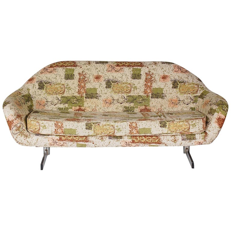 Mid-Century Modern Petite Sofa or Loveseat Attributed to Overman