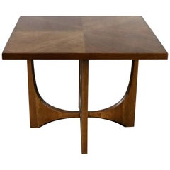 Walnut Mid-Century Modern Square Side Table Style of G-Plan or Adrian Pearsall