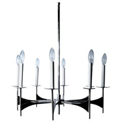 Eight-Light Spoke Chandelier by Sciolari