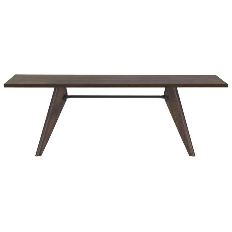 Jean Prouvé Table Solvay in Dark Smoked Oak for Vitra