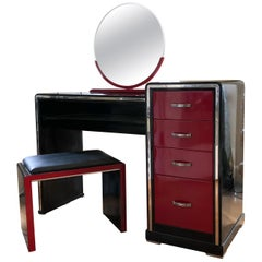 Art Deco Style Enamel Vanity