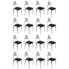 18 Robert Josten Cast Aluminum Dining Chairs