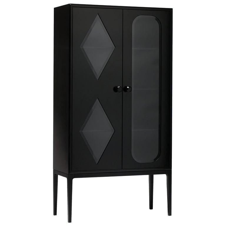 Established & Sons Tudor Two-Door Cabinet in Black by Jamie Hayon