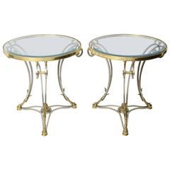 Pair of Maison Jansen Style Neoclassical Tables