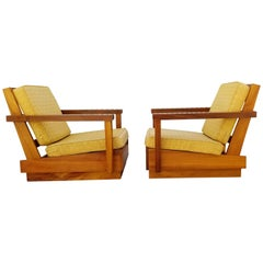 Lounge Chairs Hand Carved in Solid Koa