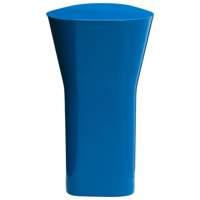 Established & Sons Delta Ceramic Side Table in Blue by Barber & Osgerby For Sale